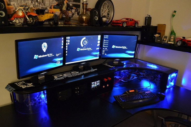 Stylish Gaming Computer Desk Setup Enchanting Gaming Pc Desk Setup Best Home Office Furniture Ideas