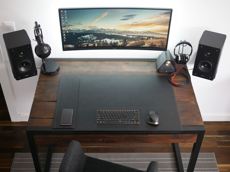 Stylish Glass Desk Setup Best 25 Desk Setup Ideas On Pinterest Computer Setup Pc Gaming