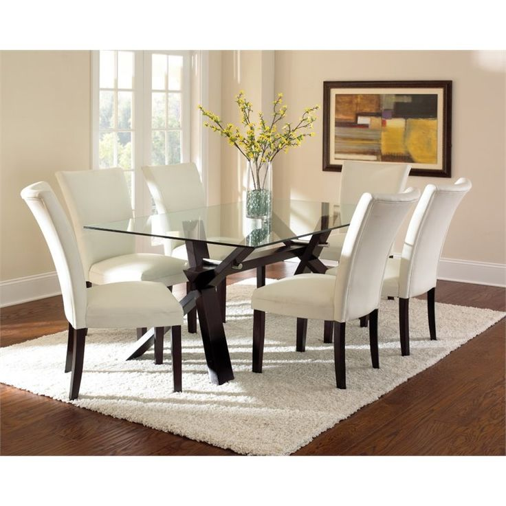Stylish Glass Top Dining Table Best 25 Glass Top Dining Table Ideas On Pinterest Glass Dinning