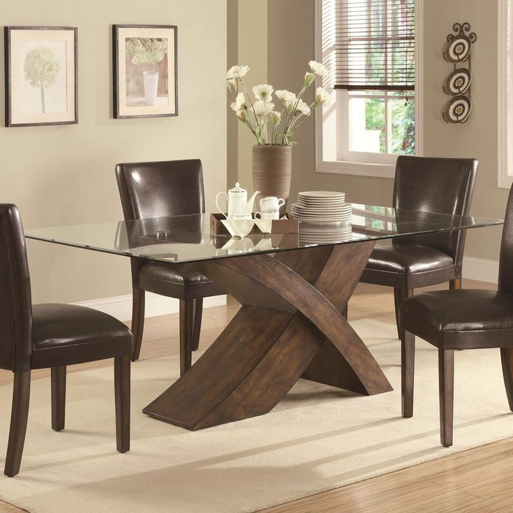 Stylish Glass Top Dining Table Dining Tables Elegant Glass Top Dining Tables For Sale Kitchen