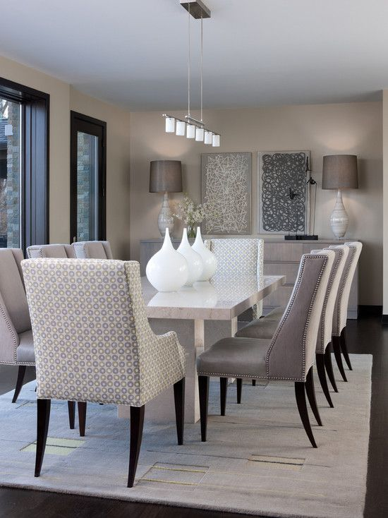 Stylish Gray And White Dining Room Chairs Best 25 Contemporary Dining Room Furniture Ideas On Pinterest