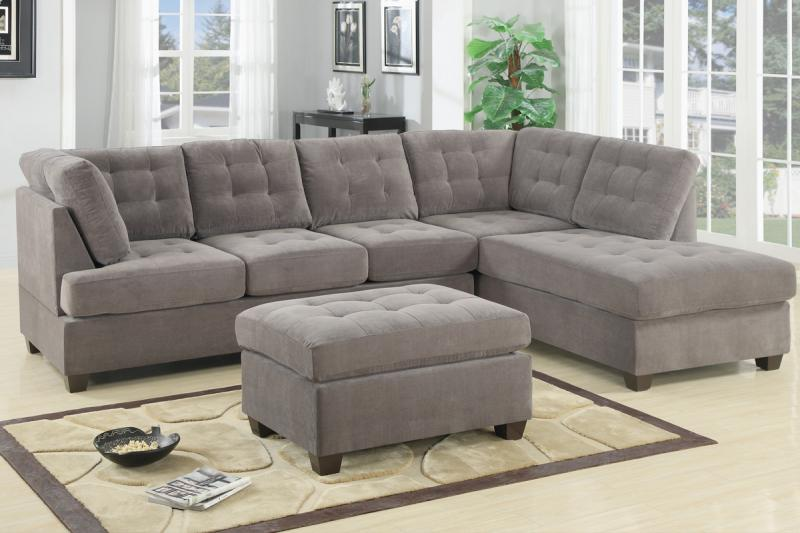 Stylish Gray Microfiber Sectional Couch The Most Contemporary Charcoal Grey Sectional Sofa House Plan