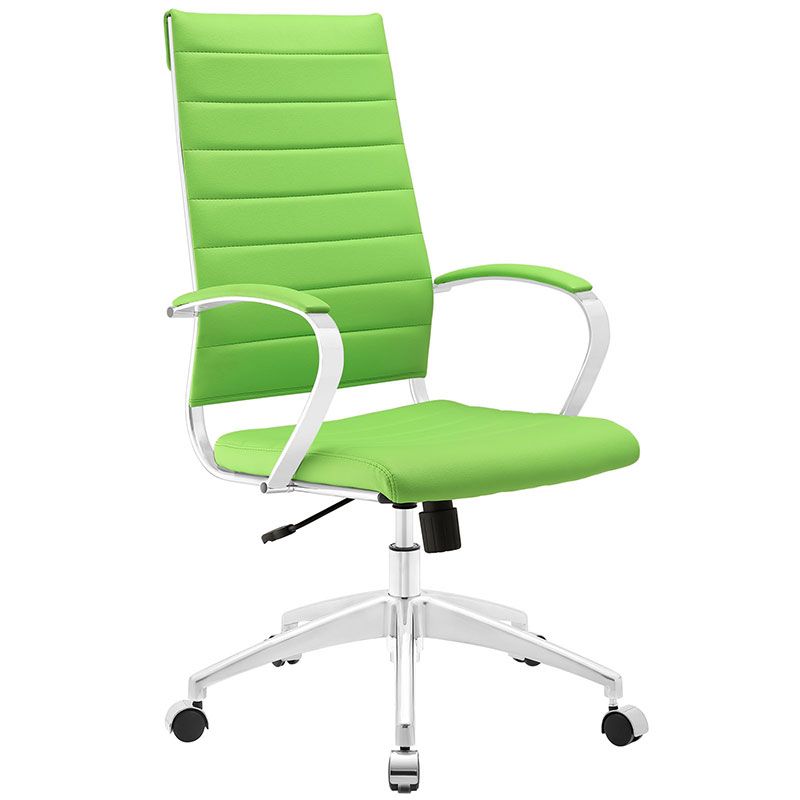 Stylish Green Office Chair Jesse High Back Modern Office Chair