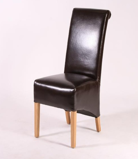 Stylish High Back Leather Dining Chairs Brown Leather High Back Dining Room Chairs Home Interiors