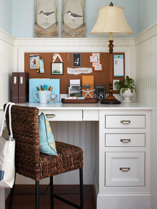 Stylish Home Desks For Small Spaces Small Space Home Offices Storage Decor