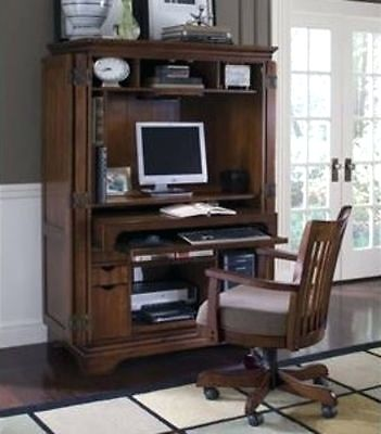 Stylish Home Office Armoire Desk Home Office Armoire Computer Desk In Pokybounds Garage Sale