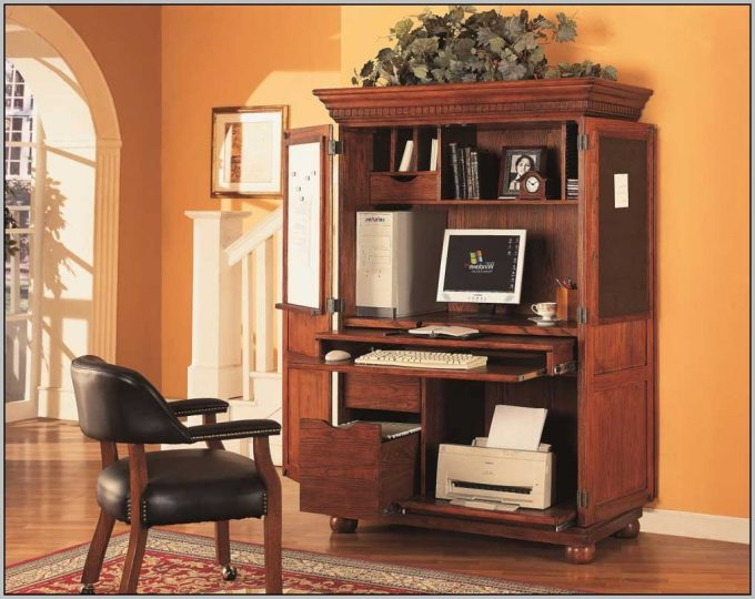 Stylish Home Office Armoire Furniture Attractive Desk Armoire For Home Office Decoration