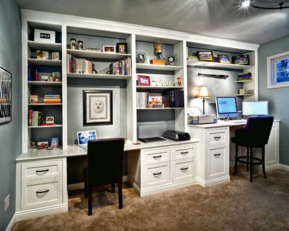 Stylish Home Office Desk And Bookcase Wall Units Interesting Bookcase With Built In Desk Built In Desks
