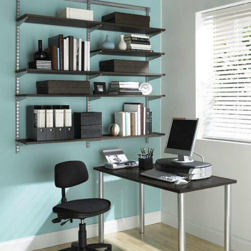 Stylish Home Office Desk With Shelves Home Office Ideas Corner Home Office Design With Shelves Desk