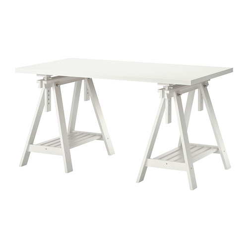 Stylish Ikea Desk Table Linnmon Finnvard Table White 59x29 12 Ikea