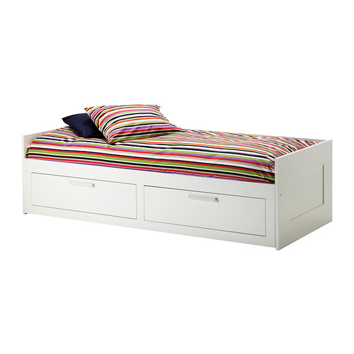 Stylish Ikea Double Bed With Drawers Brimnes Daybed Frame With 2 Drawers Ikea