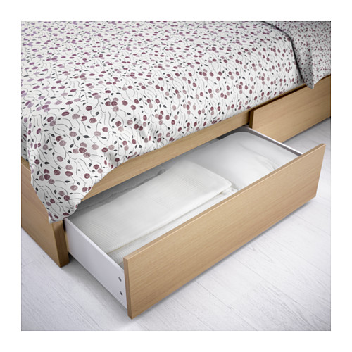 Stylish Ikea Double Bed With Drawers Malm Underbed Storage Box For High Bed Black Brown Fulldouble