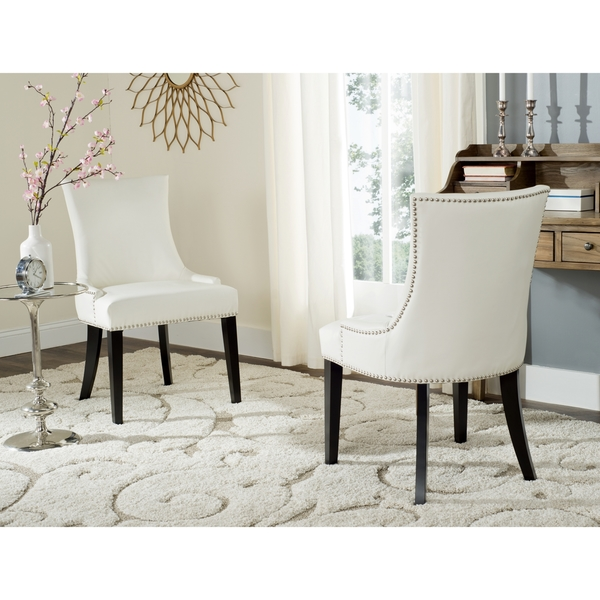 Stylish Ikea White Leather Dining Chair Chairs Astounding White Leather Dining Chairs White Leather