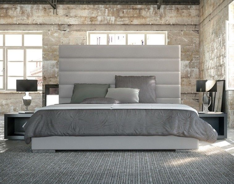 Stylish King Size Head Boards Contemporary Bed Frame With Tall White Upholstered Headboard With
