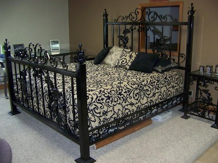 Stylish King Size Metal Bed Handmade King Size Metal Bed On Etsy