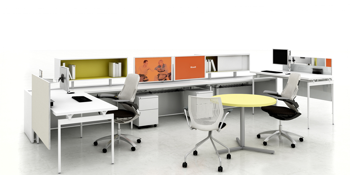 Stylish Knoll Office Desk Antenna Workspaces Arenson Office Furnishings