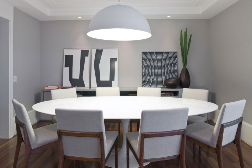 Stylish Large Modern Dining Room Tables Modern Round Dining Table For 8 Starrkingschool