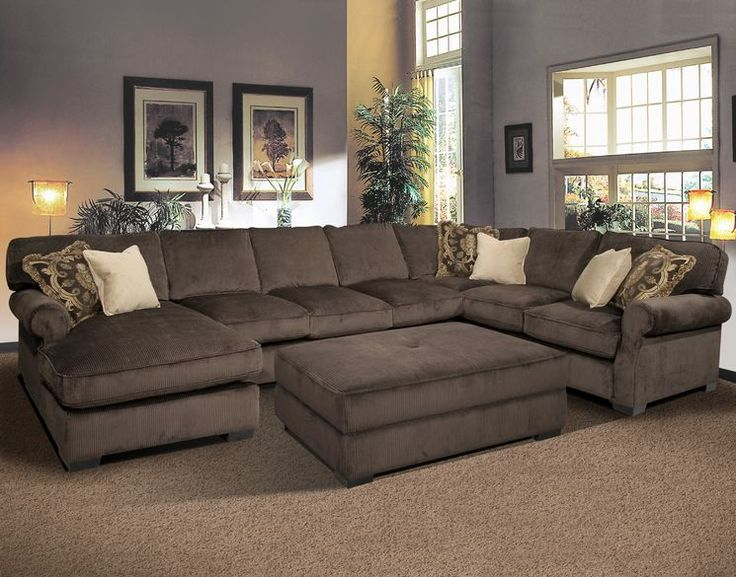 Stylish Large Sectional Sofa With Ottoman Best 25 Large Sectional Sofa Ideas On Pinterest Large Sectional