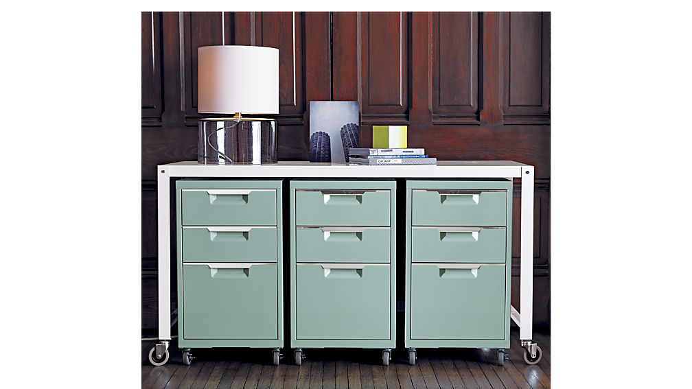 Stylish Lateral File Cabinet On Wheels Tps Mint 3 Drawer File Cabinet Cb2