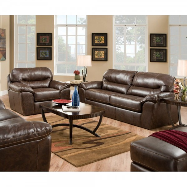 Stylish Leather Sofa And Loveseat Brantley Living Room Sofa Loveseat 4430 Living Room