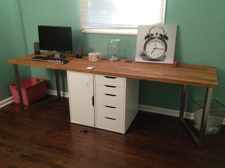 Stylish Long Computer Desk For Two Best 25 Two Person Desk Ideas On Pinterest 2 Person Desk Home