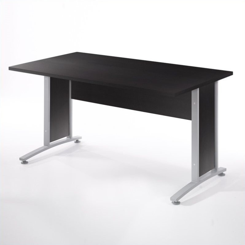 Stylish Metal Computer Desk 60 Computer Desk With Metal Legs In Coffee 80400712003