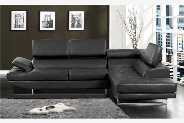 Stylish Modern Black Leather Couch The Most Stylish Leather Contemporary Sofa Pertaining To Provide