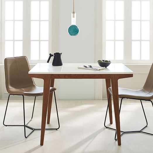 Stylish Modern Extendable Dining Table Modern Expandable Dining Table West Elm