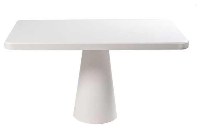 Stylish Modern Pedestal Table Sold Out Modern White Pedestal Table 1299 Est Retail 499