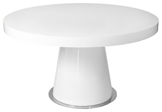 Stylish Modern Round White Dining Table Dante Round Dining Table White Modern Dining Tables