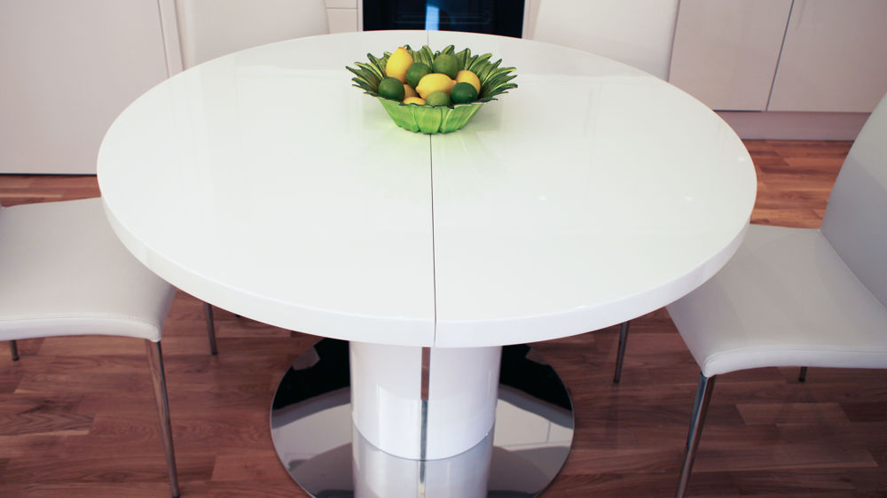 Stylish Modern Round White Dining Table Modern Round Extending Dining Table Uk Starrkingschool
