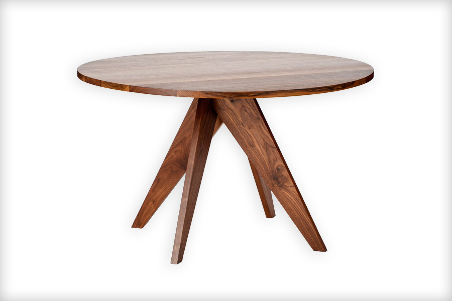Stylish Modern Round Wood Dining Table Handmade Modern Round Walnut Dining Table