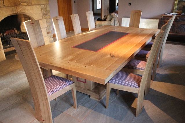 Stylish Oak Dining Table Dining Table With 9 Chairs