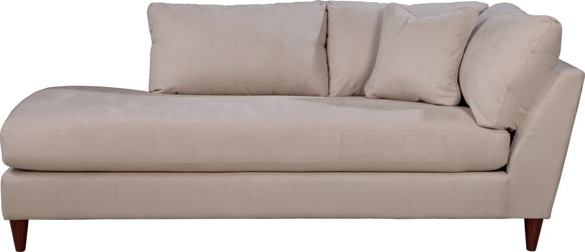 Stylish One Arm Chaise Lounge Contemporary Right Arm Sitting Chaise Lounge With Toss Pillow