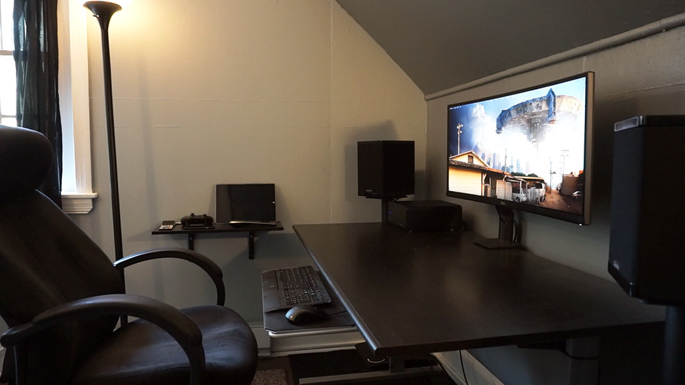 Stylish Pc Desk Setup Setup Tour Computer Desk Home Theater Tek Everything