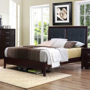 Stylish Platform Bed With Upholstered Headboard Homelegance Edina Upholstered Headboard Platform Bed In Espresso