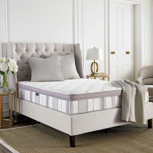 Stylish Queen Size Bed In A Box Safavieh Serenity 115 Inch Pillow Top Spring Queen Size Mattress