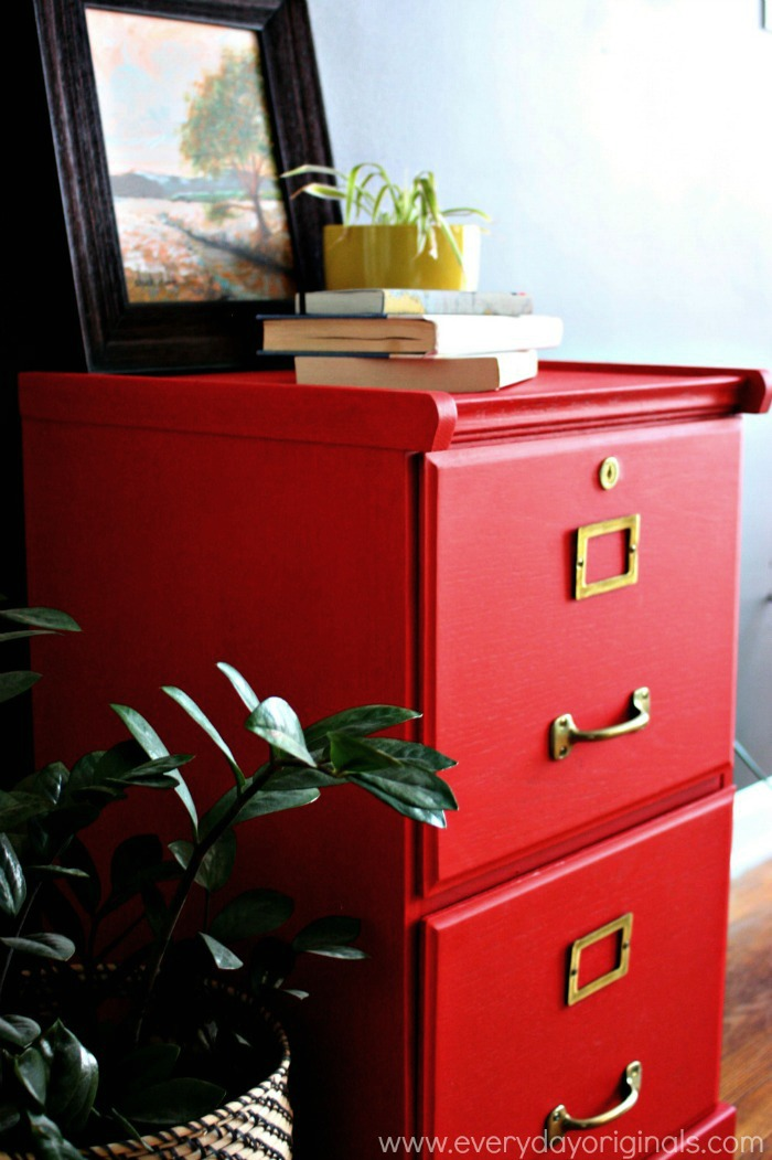 Stylish Red Filing Cabinet Bold Red Filing Cabinet Guest Post Country Chic Paint