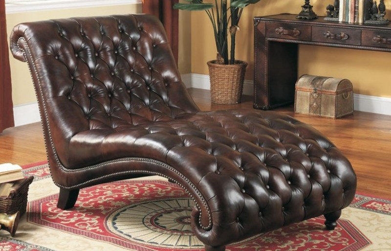 Stylish Red Leather Chaise Lounge Leather Chaise Lounges Foter
