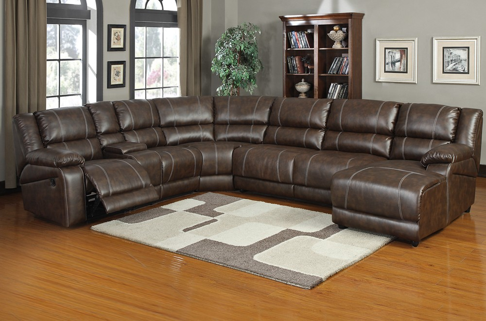 Stylish Sectional Sleeper Sofa With Recliners Is Nicole Reclining Sectional Sofa Double Recliner Bonded Leather