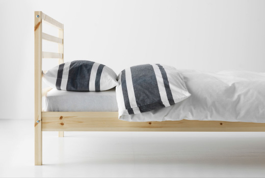 Stylish Single Wooden Bed Frames Ikea Single Beds Frames Ikea