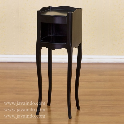 Stylish Small Black Night Table Black Bedside Table 1 Drawer Black Painted Furniture