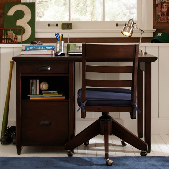Stylish Small Desk With Storage Chatham Small Storage Desk Hutch Pbteen