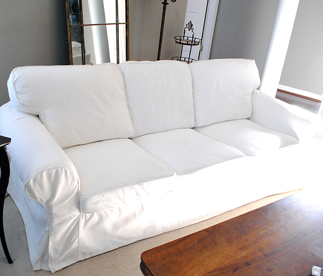 Stylish Sofa Covers For Ikea Sofas How To Easily Remove Wrinkles From Ikea Slipcovers The Graphics