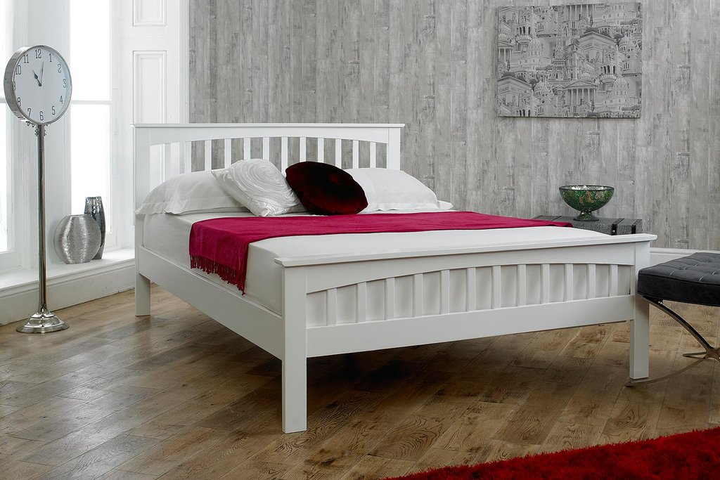 Stylish Solid King Bed Frame White Solid Wood King Size Bed Frame Solid Wood King Size Bed