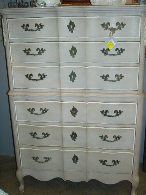 Stylish Tall Dresser Chest Of Drawers French Style Painted Chest Of Drawers Tall Dresser Ebay Seller A