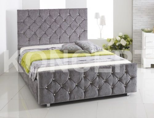 Stylish Upholstered Bed Frame With Drawers Chenille Fabric Upholstered Storage Bed Frame Designed And