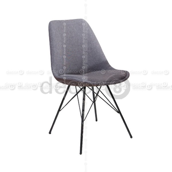 Stylish Upholstered Dining Chairs With Black Legs Decor8 Chair Oliver Upholsteres Dining Chair Black Metal Legs