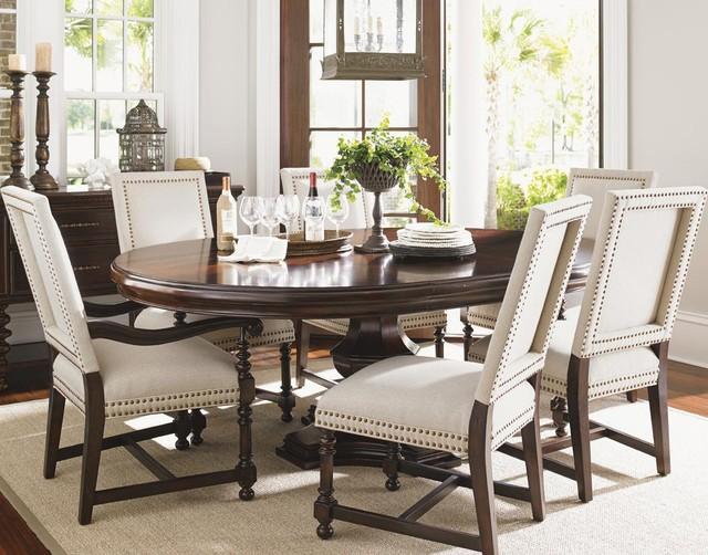 Stylish Upholstered Dining Room End Chairs Kilimanjaro Seven Piece Maracaibo Dining Table And Cape Verde