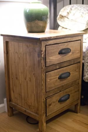 Stylish White And Brown Nightstand Best 25 Wood Nightstand Ideas On Pinterest Classic Spare
